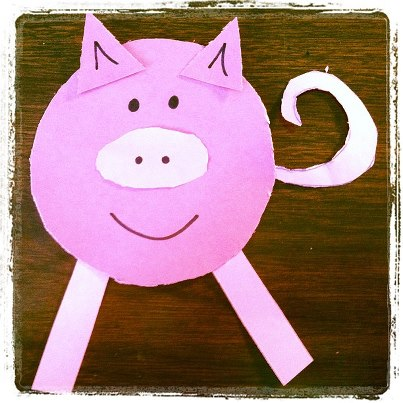 Easy Pig Craft for Kids Great for the Prodigal Son Bible lesson Easy Crafts For Kids Age 3