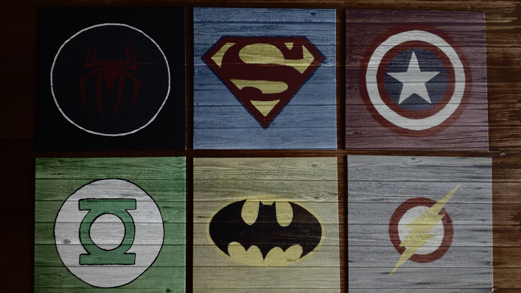 DIY Wall Art For Boys Superhero Logos