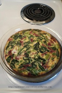 Yummy bacon, garlic, onions, spinach, and green peppers make this dish delicious!