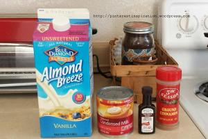 Simple ingredients for this DIY coffee creamer.