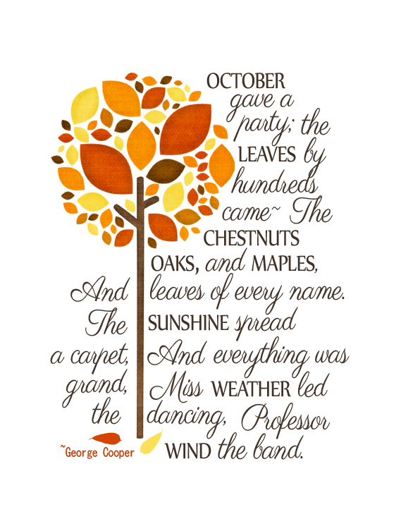 Poem In October Analysis