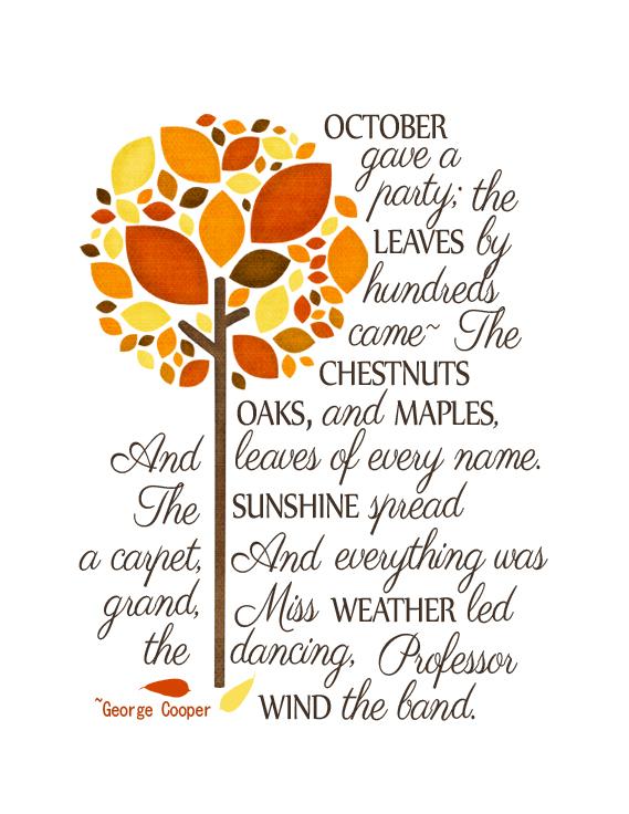 Poem in October