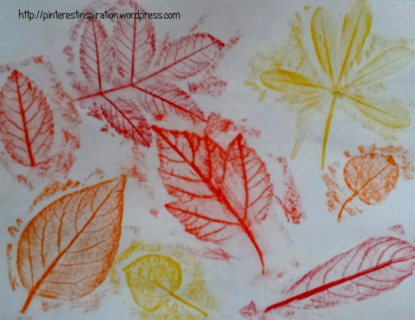 leaf imprints fun art project for all ages pinterest inspiration