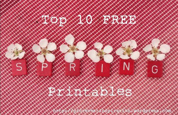 spring printables cover