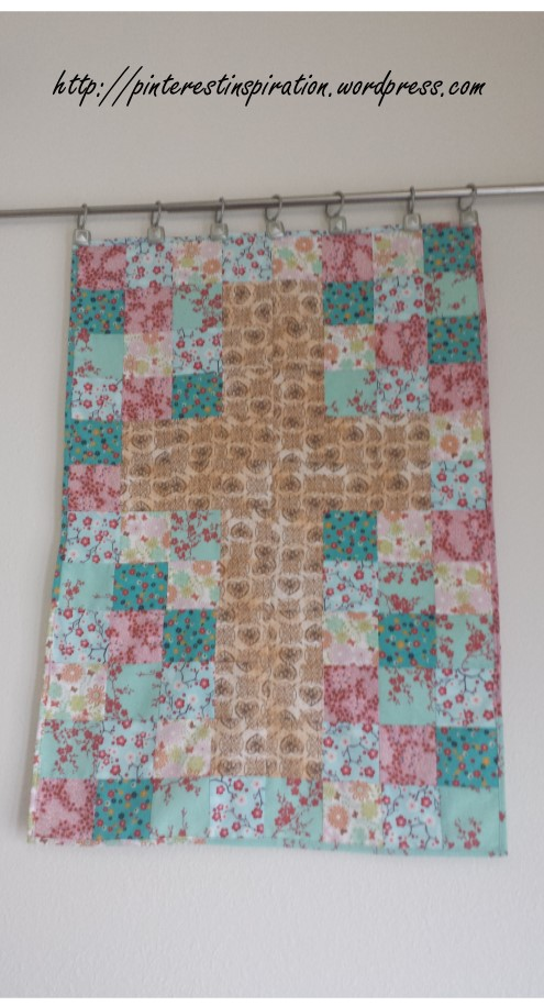 The Finished size of this wall hanging is 24 inches by 36 inches, which is a nice size to work with.