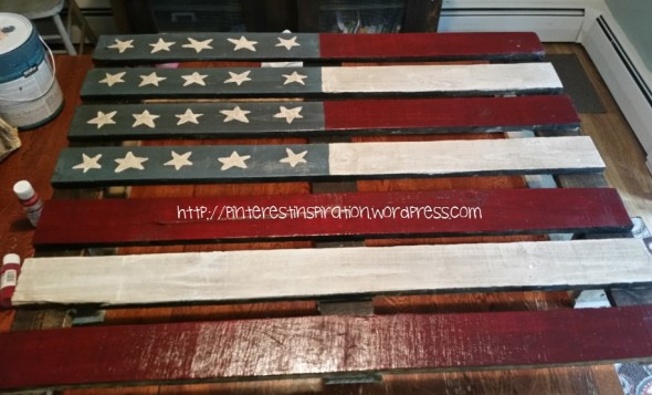 My pallet flag before the clear coat was applied.