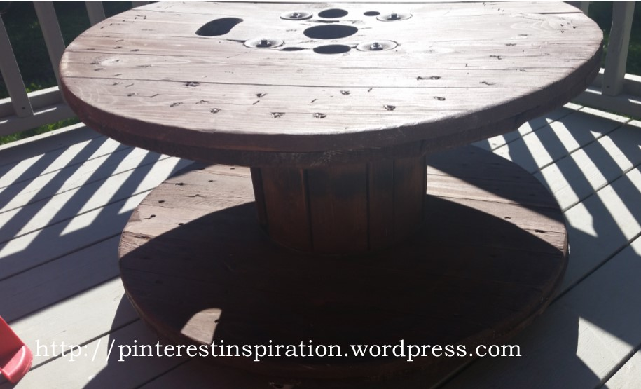 wire spool coffee table for outdoors | pinterest inspiration