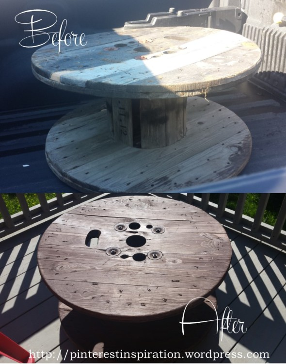 I literally picked this spool up at the dump!  It is now a nice coffee table with wheels on my deck.