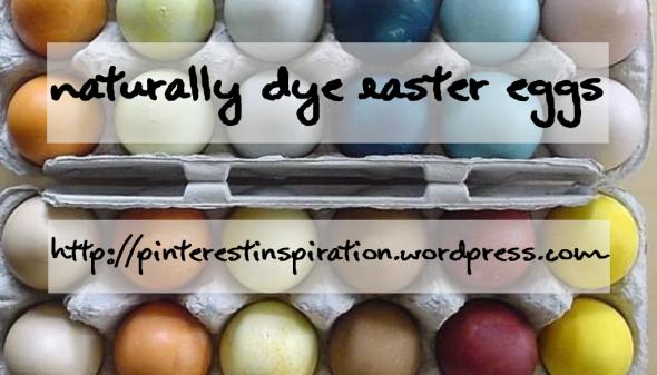 natral easter eggs