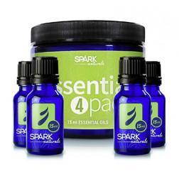 Beginner: Essential Oil 4 Pack; Lemon, Lavender, Peppermint, Melaleuca oils in 15 ml bottles. Great oils for everyday use.