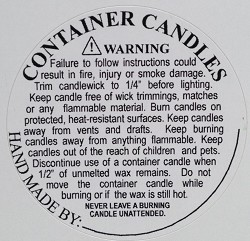 candle warning
