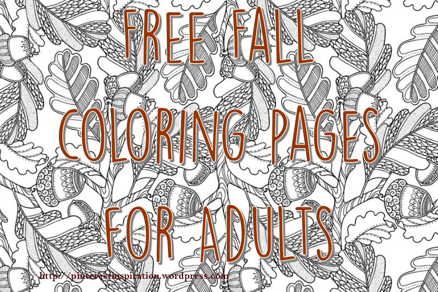 Free Fall Coloring Pages For Adults Pinterest Inspiration