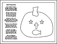 coloring pages christian halloween - photo#7