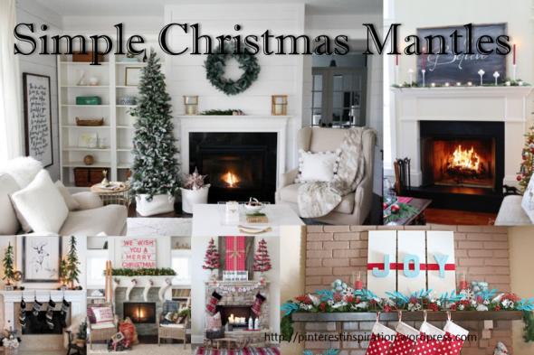 Christmas Mantle.Simple Christmas Mantle Ideas Pinterest Inspiration