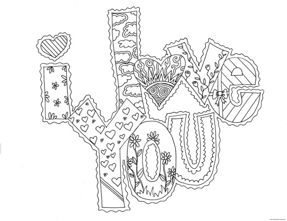 Valentines Day Coloring Pages for Adults  PINterest Inspiration