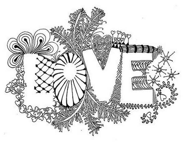 Valentine\'s Day Coloring Pages for Adults | PINterest Inspiration